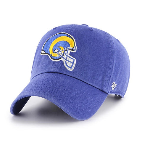 amazing selection best value order Los Angeles Rams 47 Brand NFL Throwback Clean Up Adjustable Hat