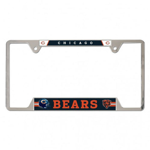 Chicago Bears Chrome License Plate Frame By Wincraft