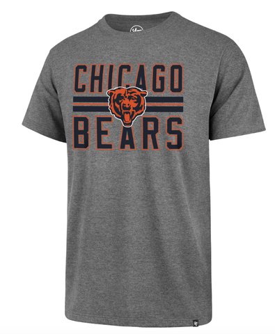 Chicago Bears Slate Grey Block Stripe Club Tee By '47 Brand