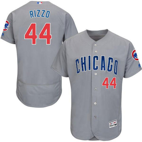 Men's Chicago Cubs Anthony Rizzo Road Gray Flex Base Authentic Collection Player Jersey