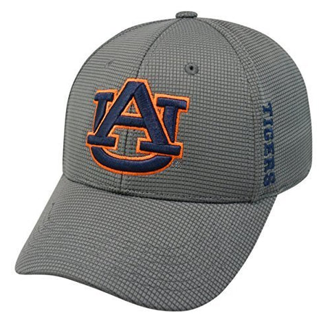 "Auburn Tigers Charcoal Gray NCAA TOW ""Booster Plus"" Memory Fit Flex Hat"