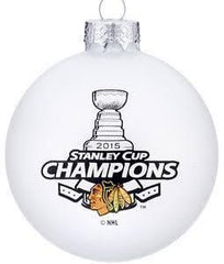 2015 Chicago Blackhawks Stanley Cup Champions Christmas Ornament