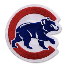 "Chicago Cubs Home Jersey Sleeve Logo ""Walking Bear"" Patch"