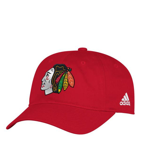 Womens Chicago Blackhawks adidas Finished Goods Bling Logo Adjustable Hat