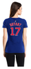 Women's Majestic Chicago Cubs Kris Bryant Name & Number Tee