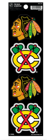 NHL Chicago Blackhawks Quad Decal