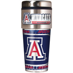 Arizona Wildcats 16oz Travel Tumbler with Metallic Wrap