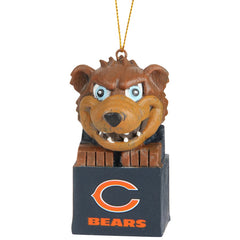 Chicago Bears Block Mascot Ornament