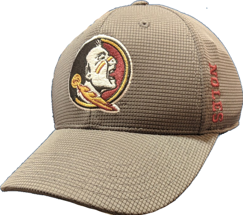 "Florida State Seminoles NCAA TOW ""Booster Plus"" Memory Fit Flex Hat - Charcoal"