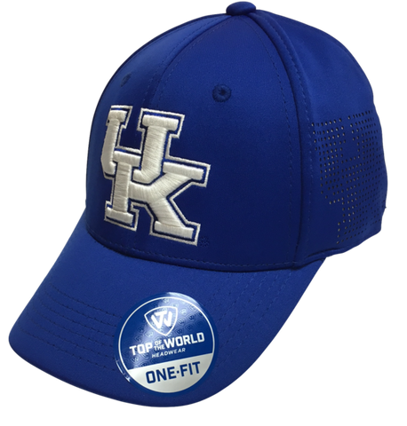 "Kentucky Wildcats Blue NCAA TOW ""Rails"" Stretch Fit Performance Mesh Hat"