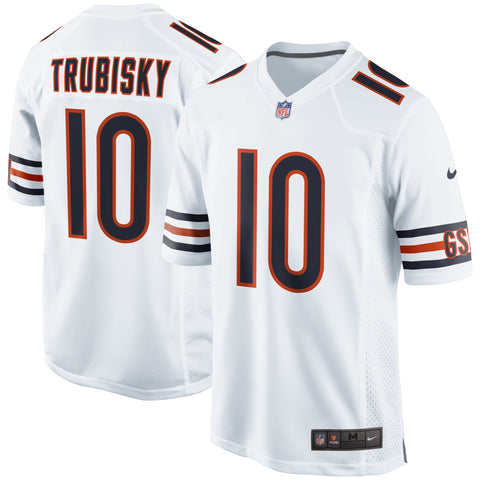 Men's Chicago Bears Mitchell Trubisky Nike White Game Jersey