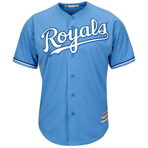 Men's Kansas City Royals Majestic Light Blue Official Cool Base Team Jersey