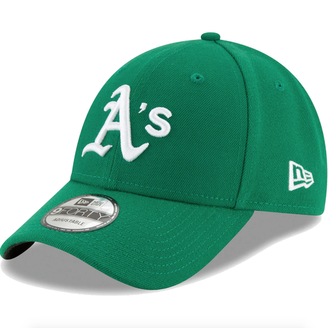 Men's Oakland Athletics New Era Green Alternate The League 9FORTY Adjustable Hat