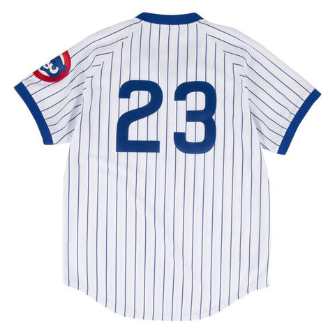 Men's Chicago Cubs White Ryne Sandberg Authentic 1987 Home Jersey
