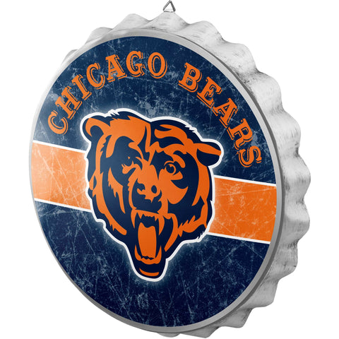 Chicago Bears Distressed Bottlecap Sign