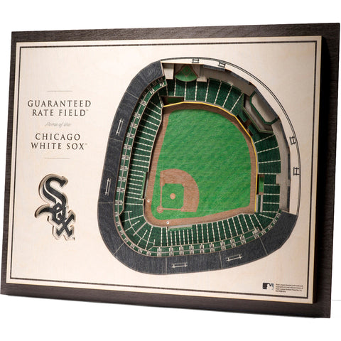 Chicago White Sox 17'' x 13'' 5-Layer 3D StadiumViews Wall Art