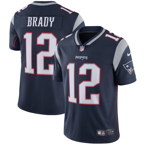 Men's New England Patriots Tom Brady Nike Navy Vapor Untouchable Limited Player Jersey