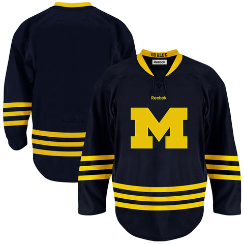 Michigan Wolverines Reebok Premier Hockey Jersey - Navy