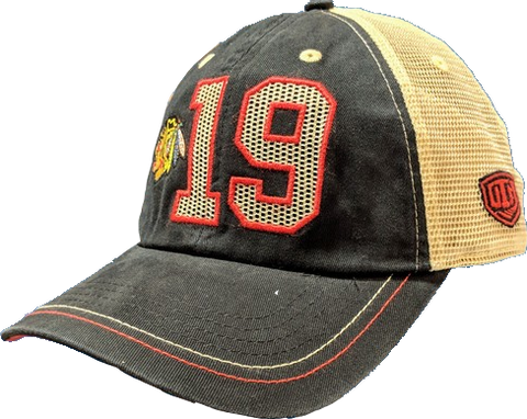 Chicago Blackhawks Jonathan Toews Trey Adjustable Meshback Old Time Hockey Hat