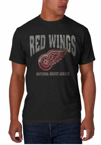 Mens Detroit Red Wings Gray Scrum Tee By 47 Brand