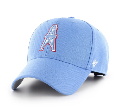 Houston Oilers Periwinkle Legacy Adjustable MVP Hat Black by 47 Brand