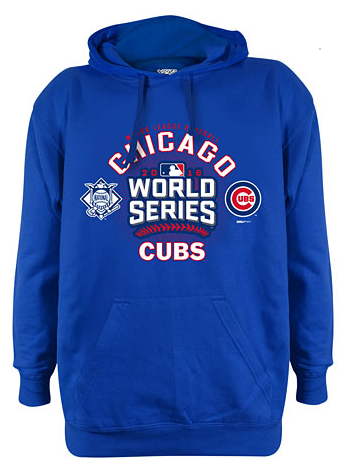 Men's Chicago Cubs 2016 World Series Participant Hoodie