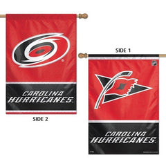 "CAROLINA HURRICANES Vertical Flag 2 Sided 28"" x 40"""