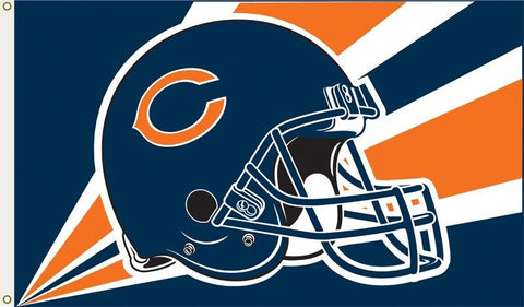 Chicago Bears 3'x5' Helmet Design Flag - Pro Jersey Sports