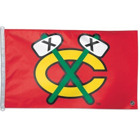 CHICAGO BLACKHAWKS Flag 3' X 5' - Pro Jersey Sports