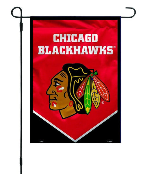Chicago Blackhawks Garden Flag By Fremont Die Pro Jersey