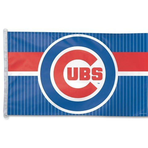CHICAGO CUBS Pinstripe Flag 3' X 5' - Pro Jersey Sports