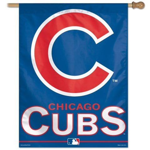 "Chicago Cubs Vertical Flag 27"" x 37"" - Pro Jersey Sports"