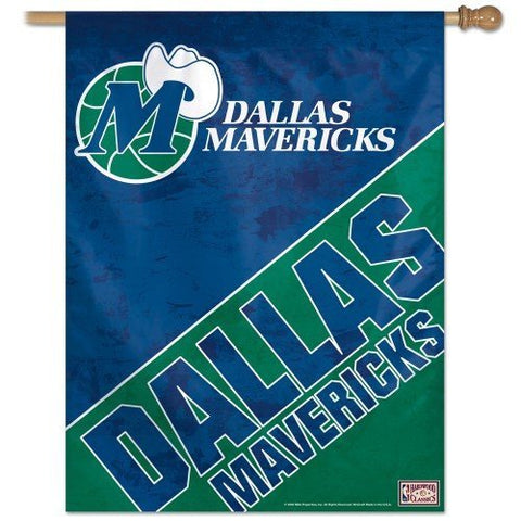 "Dallas Mavericks / Hardwoods Vertical Flag 27"" x 37"" - Pro Jersey Sports"