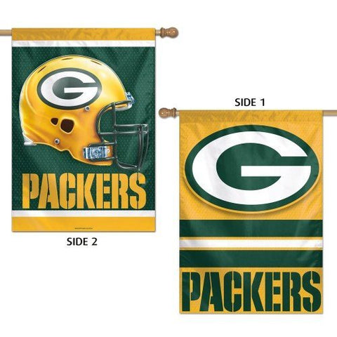 "GREEN BAY PACKERS VERTICAL FLAG 2 SIDED 28"" X 40"" - Pro Jersey Sports"
