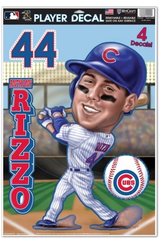 Anthony Rizzo Chicago Cubs Caricature Player Decal Sheet