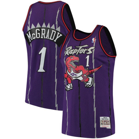 Mitchell & Ness Tracy McGrady Toronto Raptors Purple 1998-99 Hardwood Classics Swingman Jersey