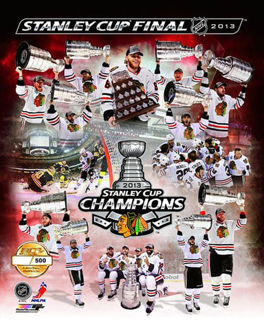Chicago Blackhawks 2013 Stanley Cup Champions Limited Edition Numbered Composite Photo