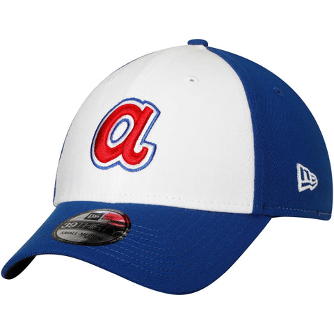 Men's Atlanta Braves New Era White Cooperstown Collection Team Classic 39THIRTY Flex Hat