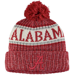 Alabama  Crimson Tide New Era Team Logo Sport Cuffed Knit Hat with Pom
