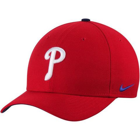 Philadelphia Phillies Nike Red Wool Classic Adjustable Performance Hat