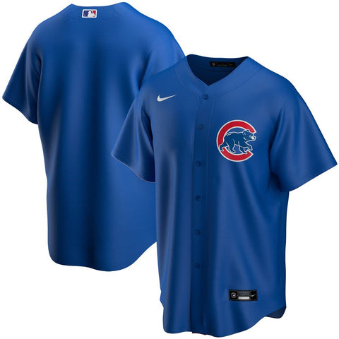 NIKE Men's Chicago Cubs Blue Alternate Replica Jersey