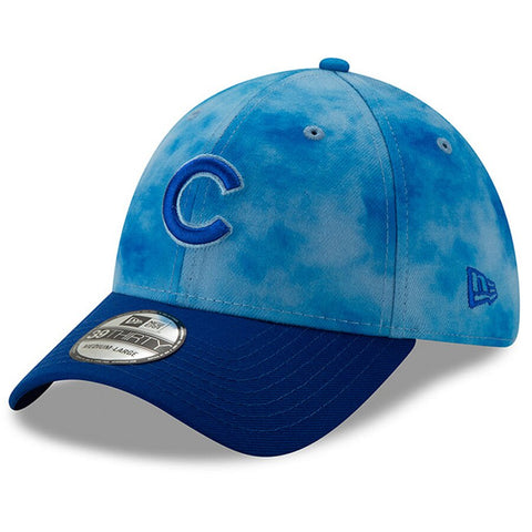 Men's Chicago Cubs New Era Blue/Royal 2019 Father's Day 39THIRTY Flex Hat