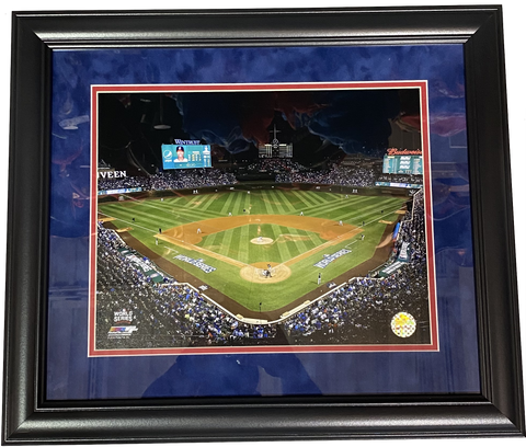 "Chicago Cubs Wrigley Field ""Game 3"" 2016 World Series 18"" x 21"" Framed Photo"