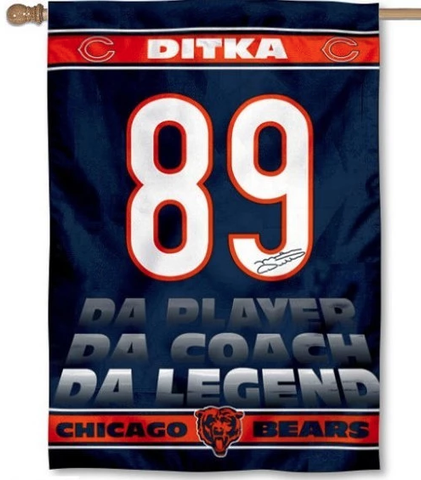 Mike Ditka Chicago Bears 28x40 Vertical House Flag