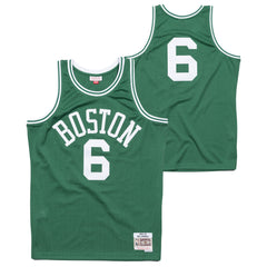 Men's Boston Celtics Bill Russell Mitchell & Ness Road Kelly Green Hardwood Classics 1962-63 Swingman Jersey