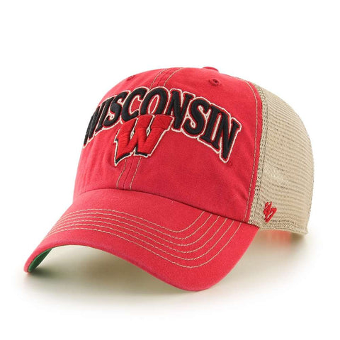 '47 Wisconsin Badgers Brand Tuscaloosa Clean Up Adjustable Hat