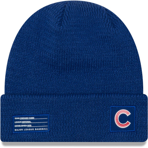 Men's Chicago Cubs New Era Royal On-Field Sport Cuffed Knit Hat