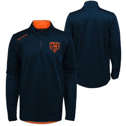 Youth NFL Chicago Bears Unlock 1/4 Zip Track Jacket