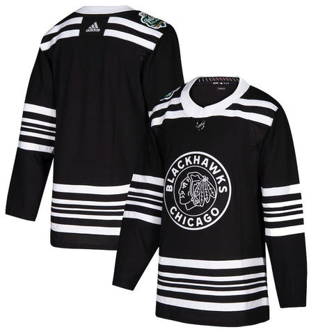 Men's Chicago Blackhawks adidas Black 2019 Winter Classic Authentic Jersey