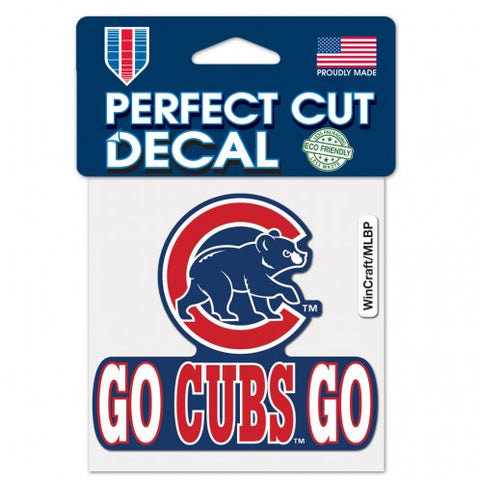 "Chicago Cubs ""Go Cubs Go"" 4X4 Perfect Cut Decal"